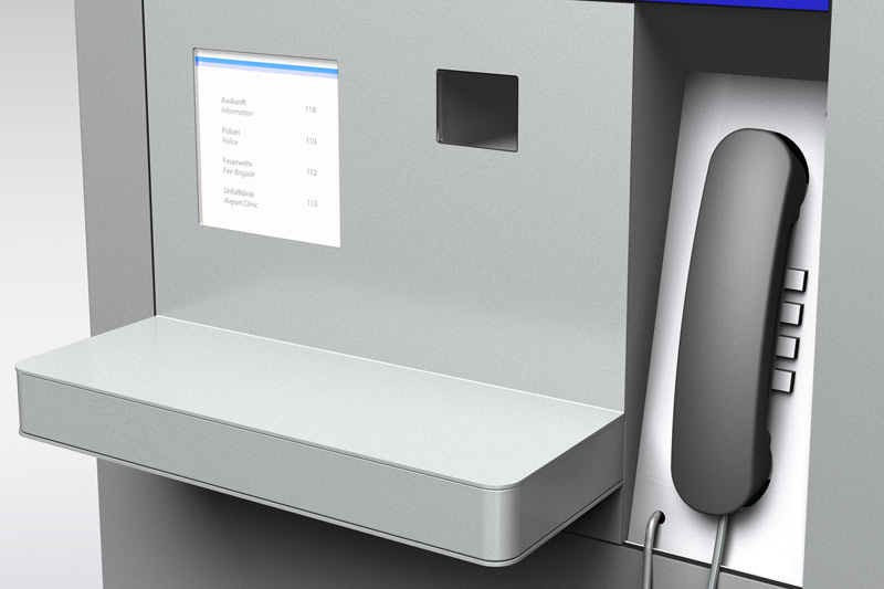 Fraport info kiosk produktentwicklung polygon for Polygon produktdesign